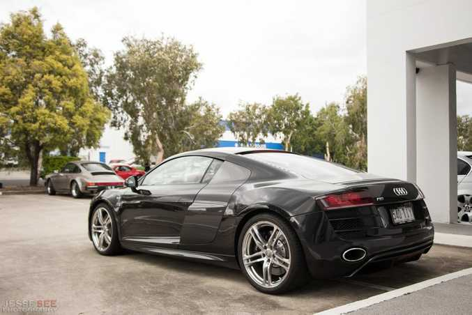 The 2009 Audi R8 V10 Coupe.